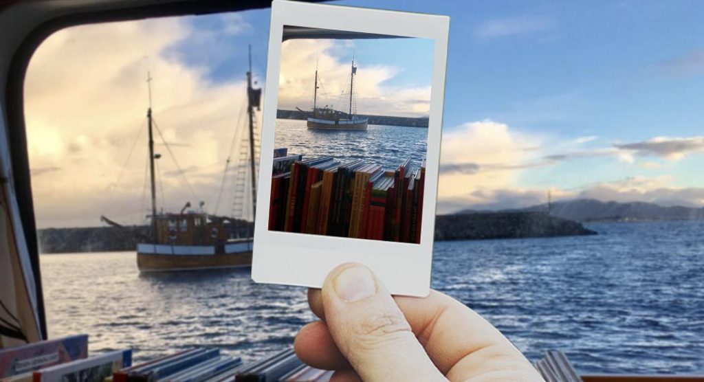 La nave biblioteca che trasporta libri in Svezia