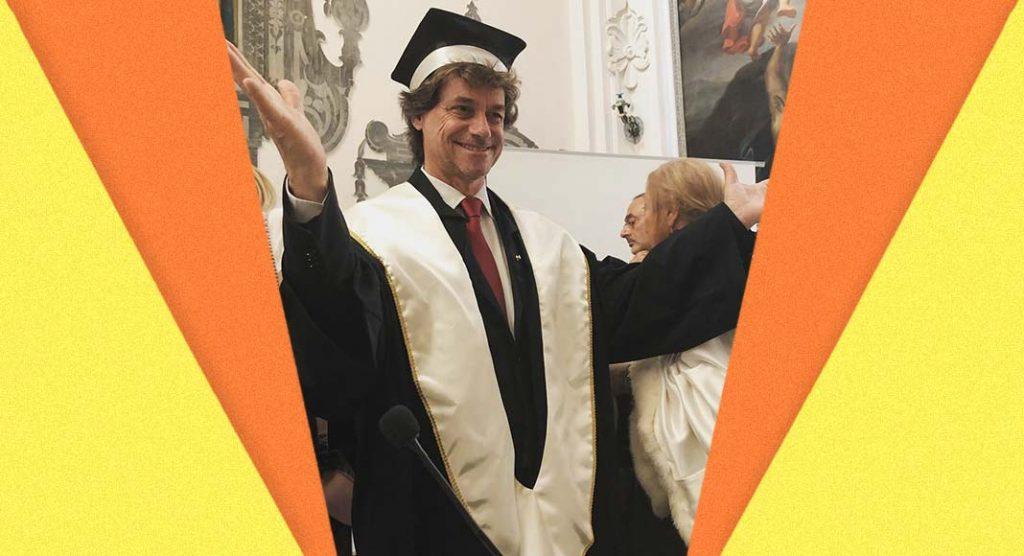 Alberto Angela riceve la laurea ad honorem in Archeologia
