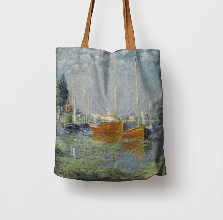 Argenteuil Claude Monet Shopper Skira Arte Borse