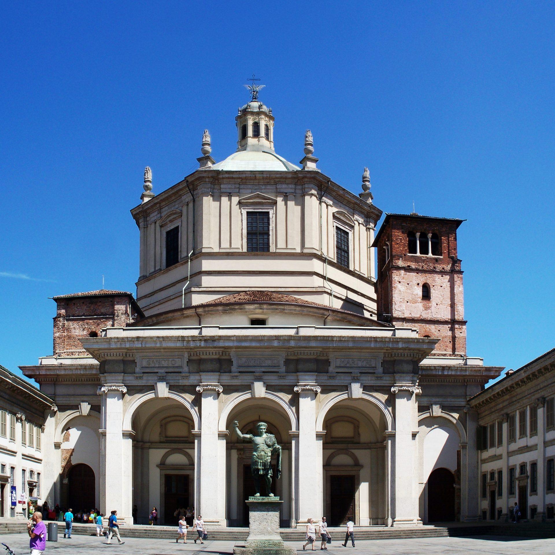 Fassade der Basilica di San Lorenzo Mailand