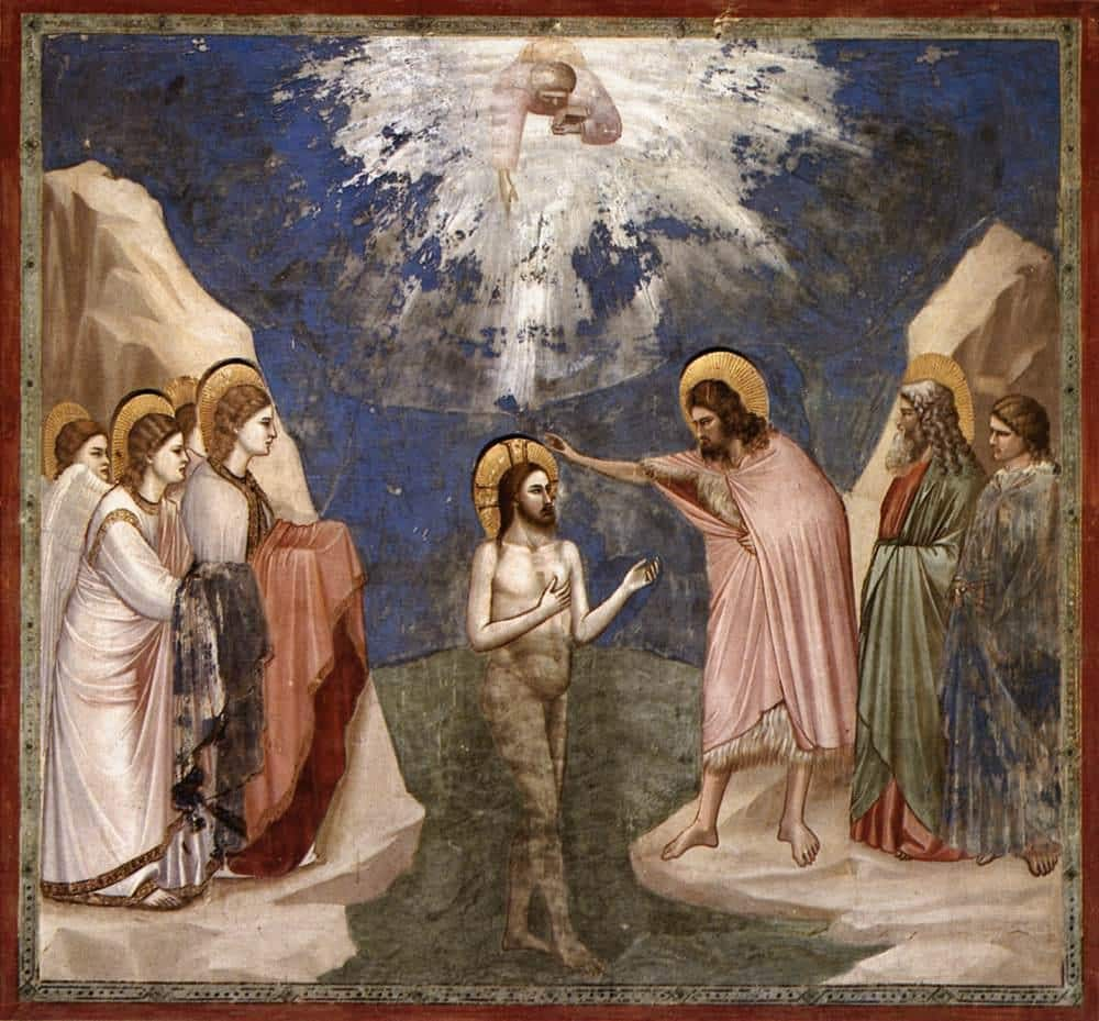 Giotto di Bondone No. 23 Scenes from the Life of Christ 7. Baptism of Christ WGA09201
