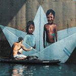 Hula, lo street artist che dipinge tra mare e terra
