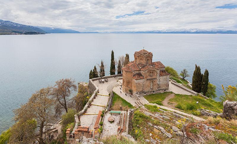 Territorio di Ocrida Albania e Macedonia del Nord Iglesia San Juan Kaneo Ohrid Macedonia