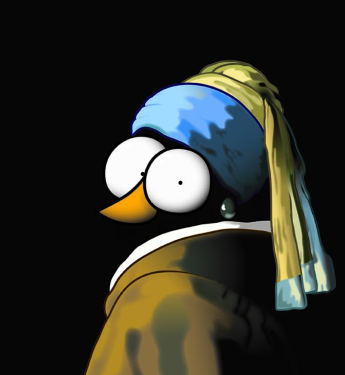 arte pinguina 4 gus e waldo