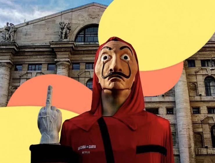 La terza stagione de 'La casa di carta' è in arrivo in Piazza Affari