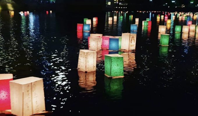 Bologna, mille lanterne galleggianti per ricordare Hiroshima