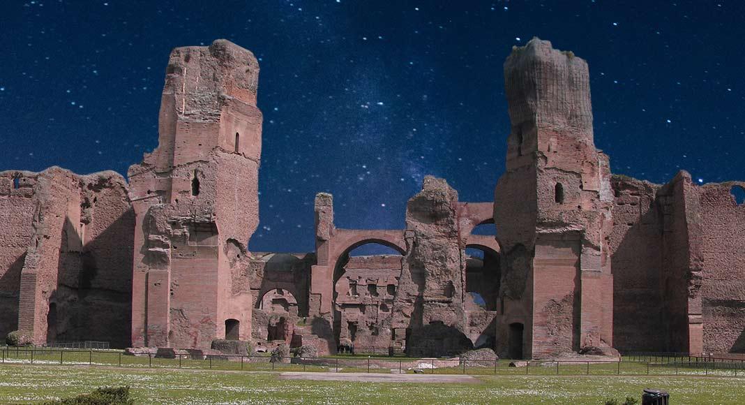 Una passeggiata notturna alle terme di Caracalla