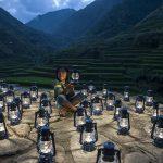 bambina lanterne