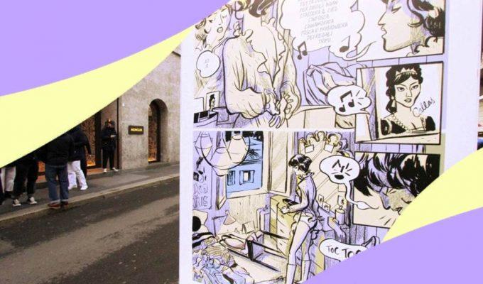 Tosca a fumetti per le vie della moda milanese