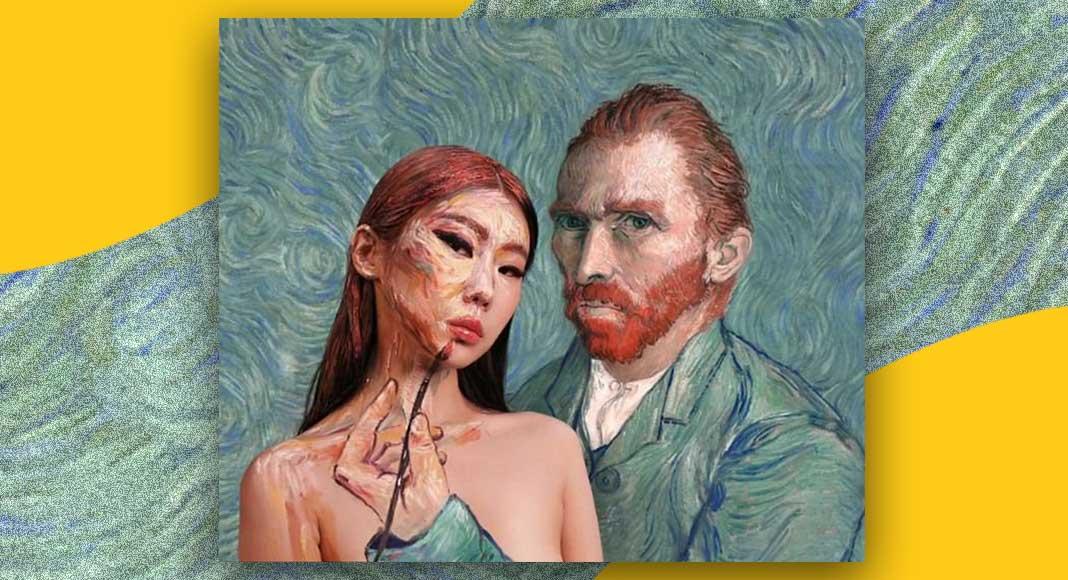 Dain Yoon, l'artista che crea illusioni ottiche dipingendosi il viso