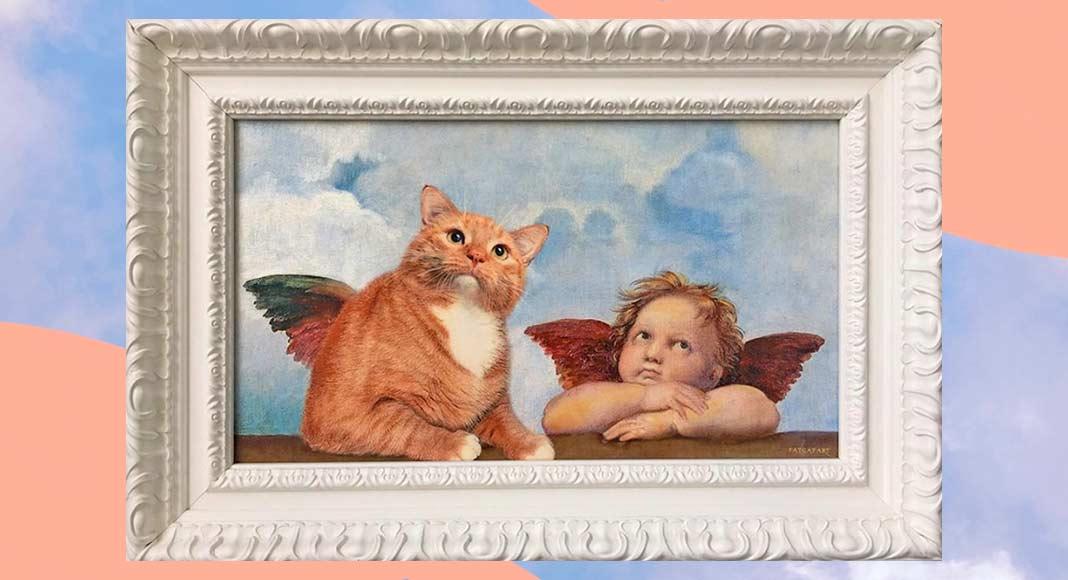 Zarathustra, il gatto paffuto protagonista delle opere d'arte più famose