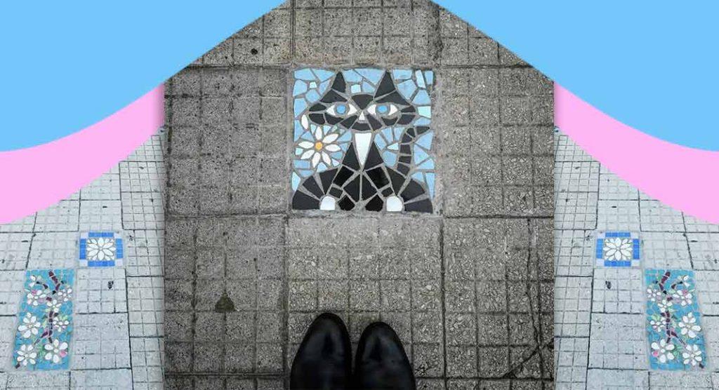 I tappeti di Irma, colorati mosaici floreali per coprire le buche dei marciapiedi