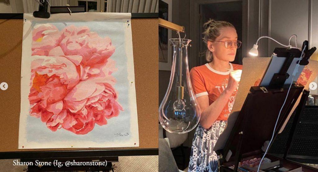 Sharon Stone pittrice 1