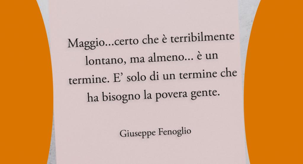 Giuseppe Fenoglio citazione