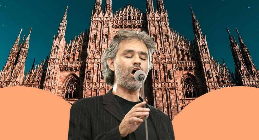 Bocelli canta nel Duomo in una Milano deserta ed emoziona tutto il mondo