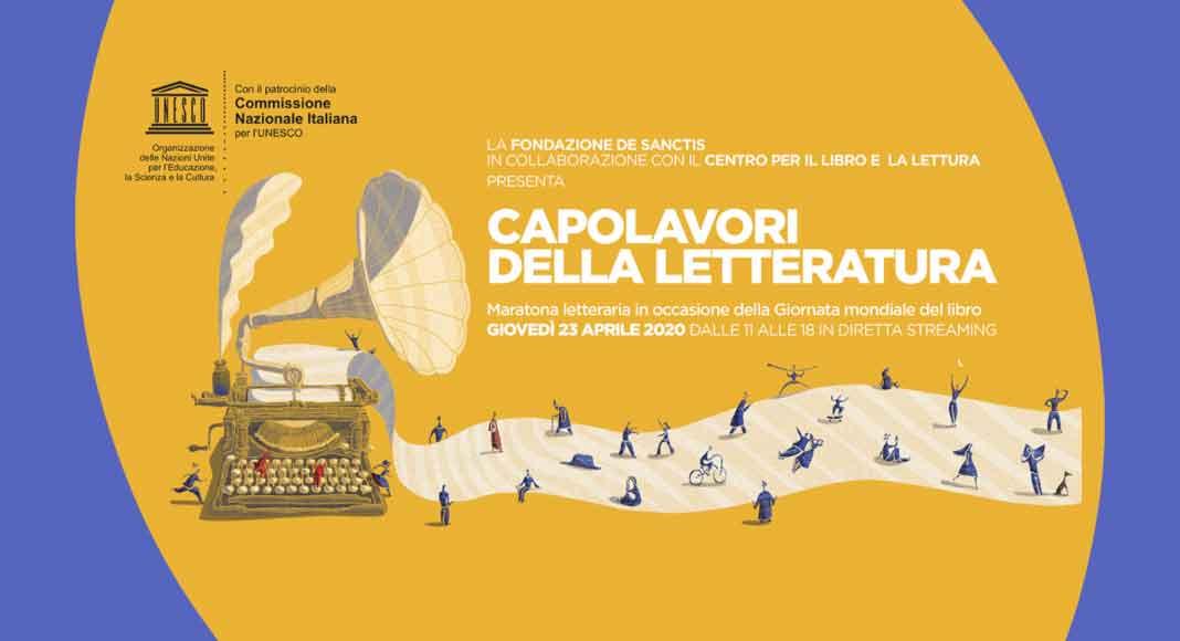 Capolavori della Letteratura, la maratona letteraria in streaming per la Giornata Mondiale del Libro