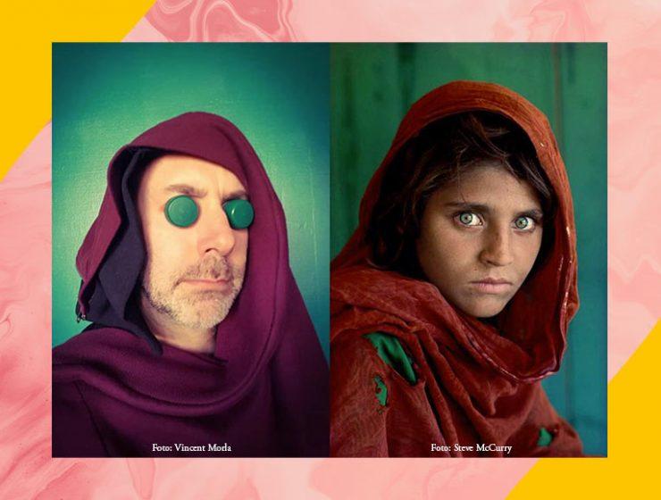 Artista francese reinterpreta in casa le fotografie famose dei grandi autori