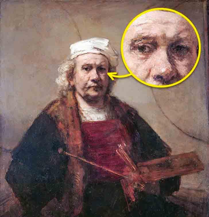 Autoritratto con tavolozza e pennelli di Rembrandt van Rijn