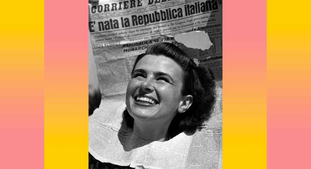 Chi è la ragazza protagonista della foto simbolo della Repubblica Italiana