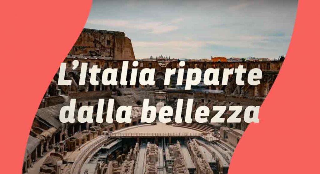 """""""L'Italia riparte dalla bellezza"""", il video che celebra il patrimonio artistico italiano"""