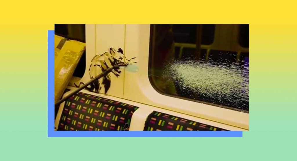 Bansky torna in azione nella metropolitana di Londra