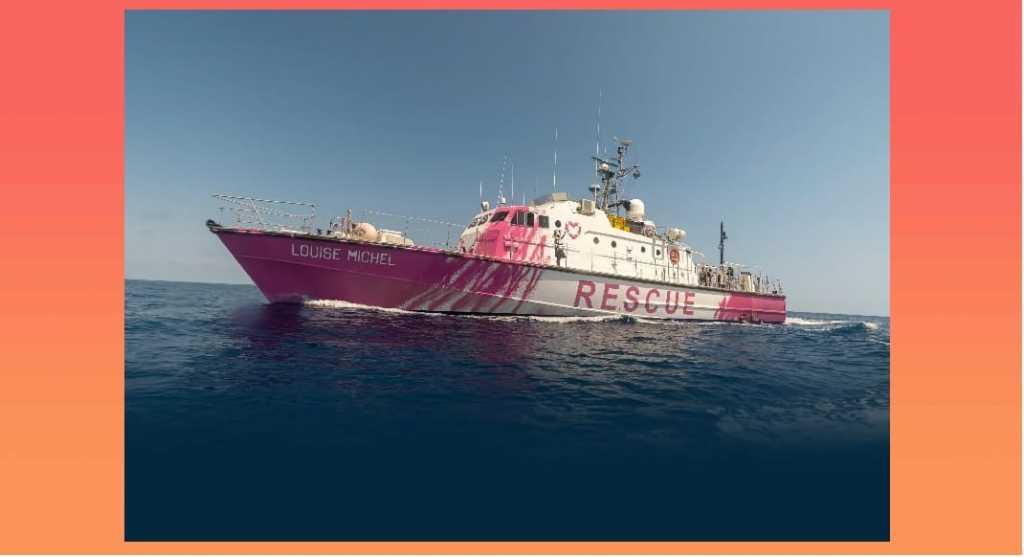 Migranti, 89 persone salvate nel Mediterraneo dalla nave di Banksy