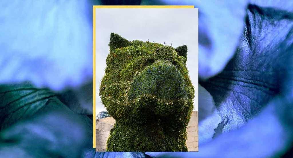 Il Puppy di Jeff Koons indossa la mascherina per sensibilizzare tutti