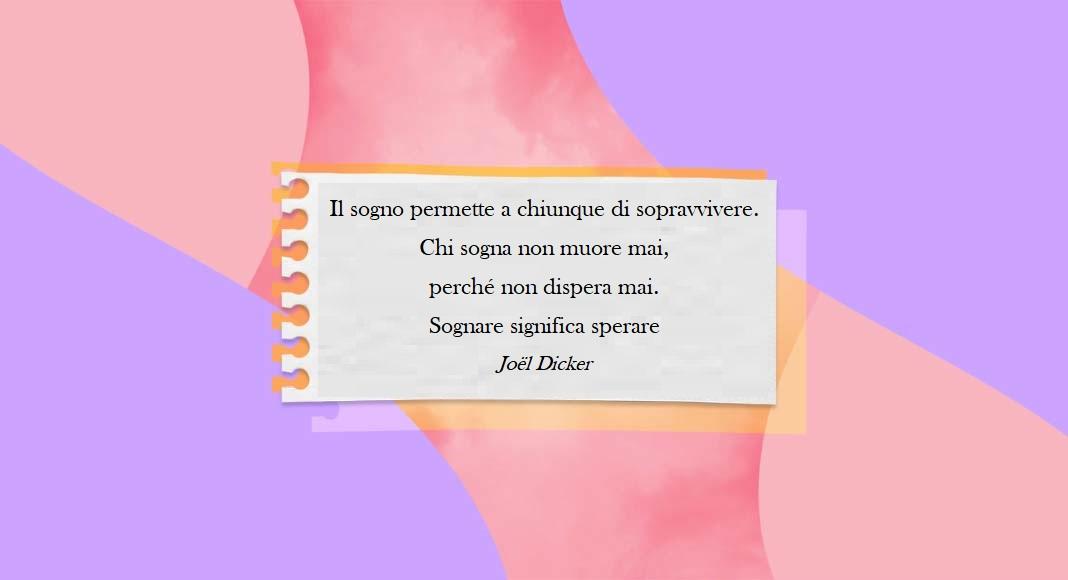 """Non smettiamo mai di sognare perché """"chi sogna non dispera mai"""""""