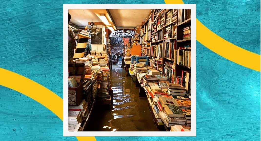 Maltempo, torna ad allagarsi la libreria acqua Alta di Venezia