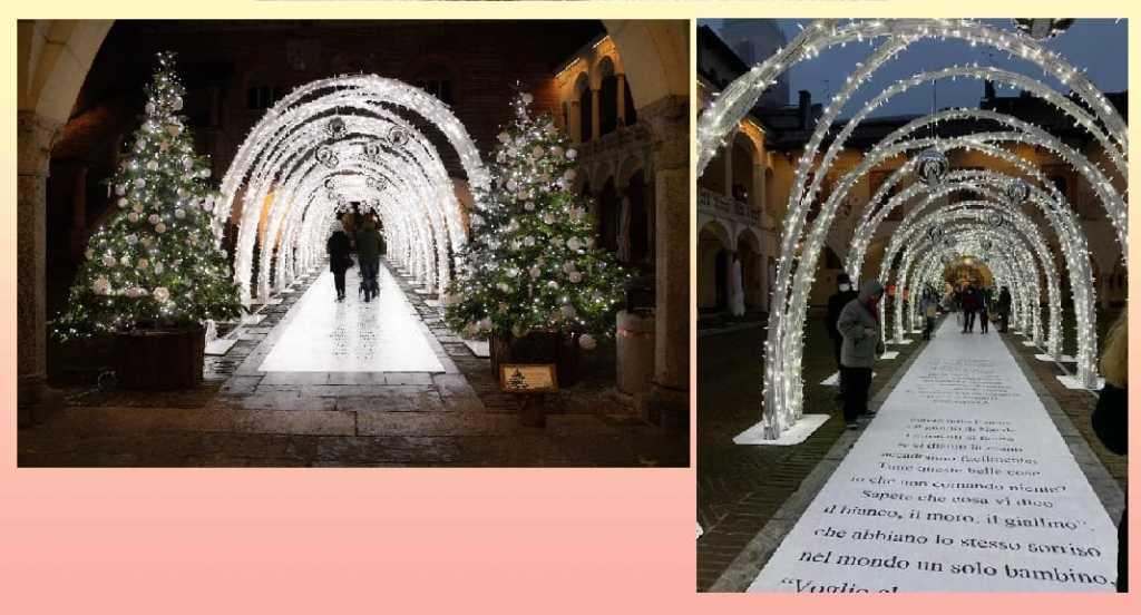 Un tunnel di luci con i versi e le poesie di Gianni Rodari