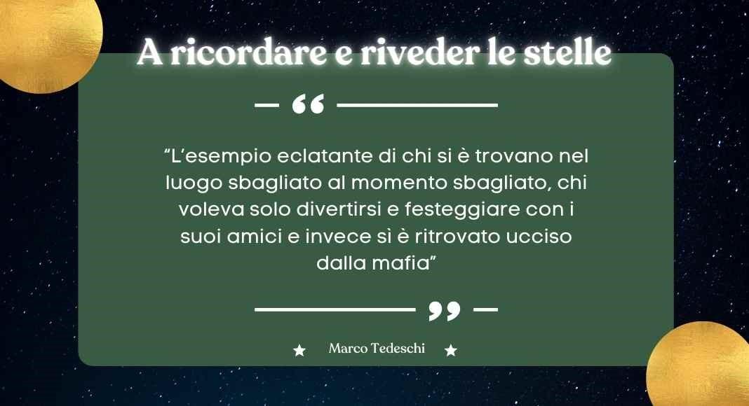 Marco Tedeschi, storia di una delle vittime innocenti di Cosa Nostra