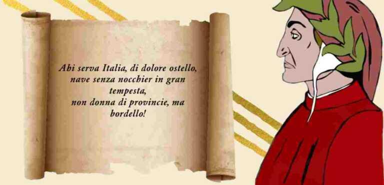 """Dante, il significato del verso """"Ahi serva Italia, di dolore ostello"""""""