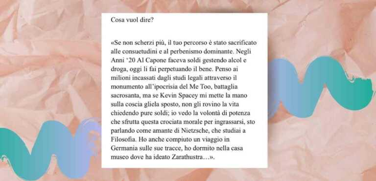 Pietro Castellitto e le dichiarazioni su Nietzsche e movimento #MeToo