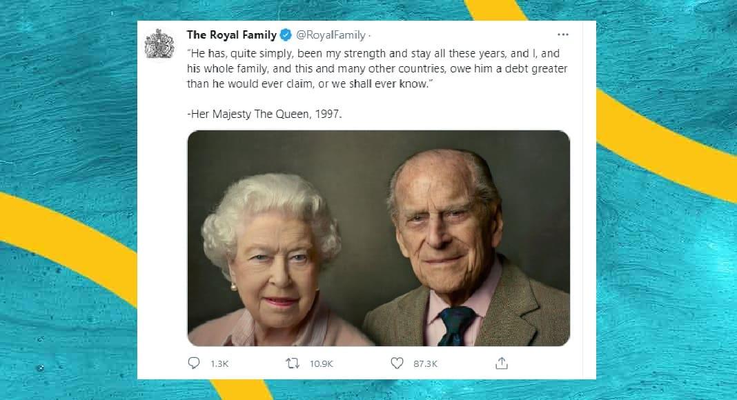 """""""E' stato la mia forza"""", la lettera d'addio della regina Elisabetta a Filippo"""