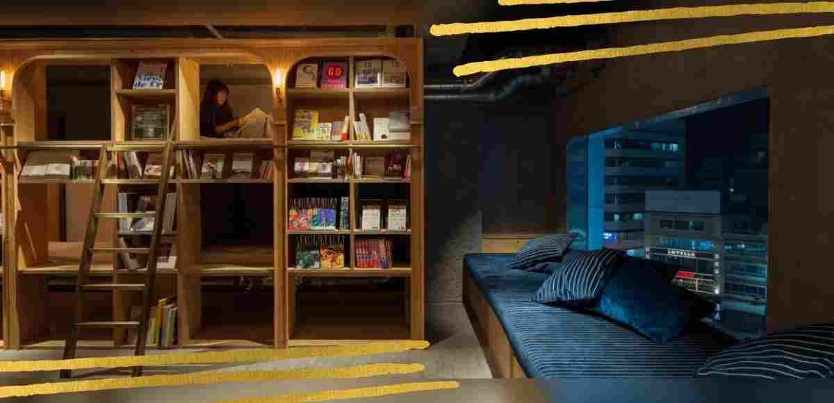 """""""Book and Bed"""" , un hotel a Tokyo per dormire tra i libri"""