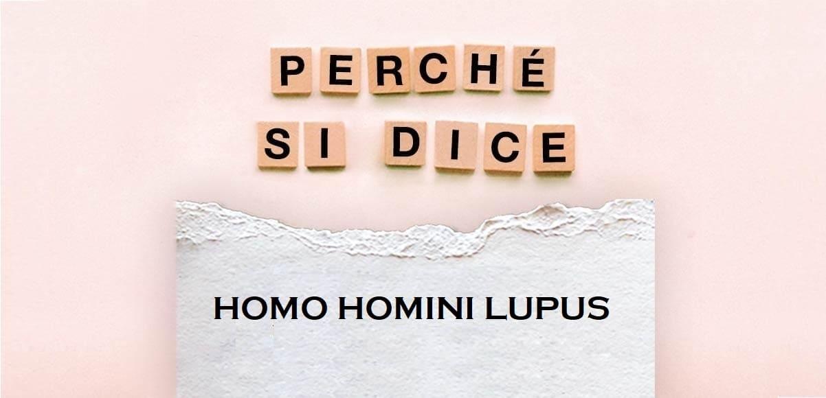 """Perché si dice """"Homo homini lupus"""", l'origine del modo di dire"""