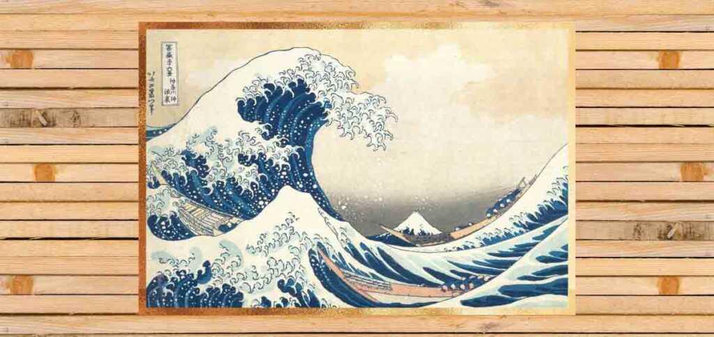 La grande onda di Hokusai, l'opera che celebra la forza dei mari