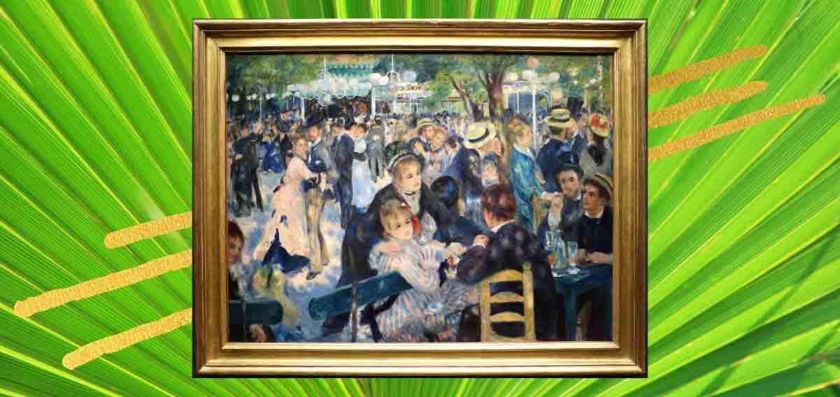 """Renoir e la leggiadria di Parigi con il """"Ballo al Moulin de la Galette"""""""