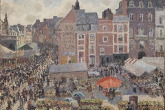 Camille Pissarro - La fiera in un pomeriggio di sole Dieppe 1901